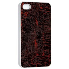 Black And Red Background Apple Iphone 4/4s Seamless Case (white) by Amaryn4rt