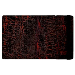 Black And Red Background Apple Ipad 2 Flip Case by Amaryn4rt