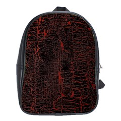 Black And Red Background School Bags (xl)  by Amaryn4rt