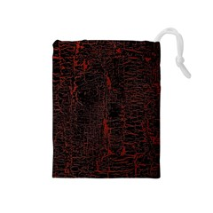 Black And Red Background Drawstring Pouches (medium)  by Amaryn4rt