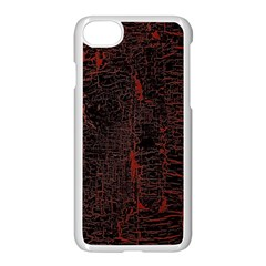Black And Red Background Apple Iphone 7 Seamless Case (white)