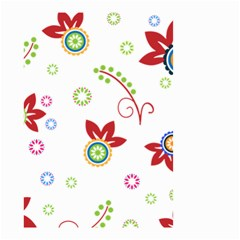 Colorful Floral Wallpaper Background Pattern Small Garden Flag (two Sides) by Amaryn4rt