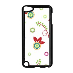Colorful Floral Wallpaper Background Pattern Apple Ipod Touch 5 Case (black) by Amaryn4rt