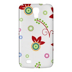 Colorful Floral Wallpaper Background Pattern Samsung Galaxy Mega 6 3  I9200 Hardshell Case
