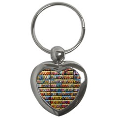 Flower Seeds For Sale At Garden Center Pattern Key Chains (heart)