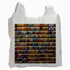 Flower Seeds For Sale At Garden Center Pattern Recycle Bag (two Side)  by Amaryn4rt