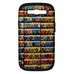 Flower Seeds For Sale At Garden Center Pattern Samsung Galaxy S Iii Hardshell Case (pc+silicone) by Amaryn4rt