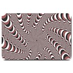 Digital Fractal Pattern Large Doormat  30 x20 Door Mat - 1