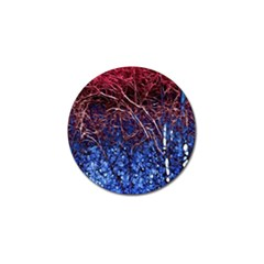 Autumn Fractal Forest Background Golf Ball Marker (4 Pack) by Amaryn4rt