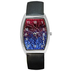 Autumn Fractal Forest Background Barrel Style Metal Watch