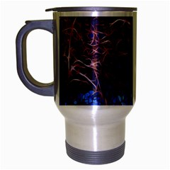 Autumn Fractal Forest Background Travel Mug (silver Gray)