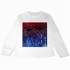 Autumn Fractal Forest Background Kids Long Sleeve T Shirts