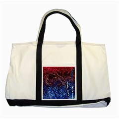 Autumn Fractal Forest Background Two Tone Tote Bag by Amaryn4rt