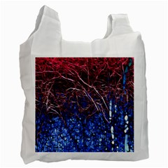 Autumn Fractal Forest Background Recycle Bag (one Side)