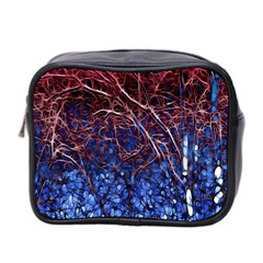 Autumn Fractal Forest Background Mini Toiletries Bag 2 Side