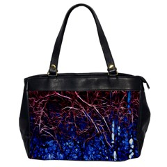 Autumn Fractal Forest Background Office Handbags by Amaryn4rt