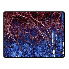 Autumn Fractal Forest Background Fleece Blanket (small) by Amaryn4rt