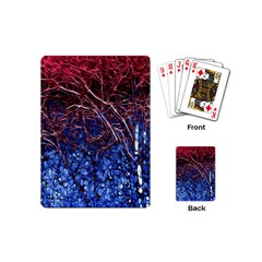 Autumn Fractal Forest Background Playing Cards (mini)
