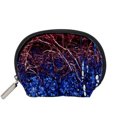 Autumn Fractal Forest Background Accessory Pouches (small)
