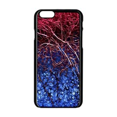 Autumn Fractal Forest Background Apple Iphone 6/6s Black Enamel Case