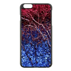Autumn Fractal Forest Background Apple Iphone 6 Plus/6s Plus Black Enamel Case