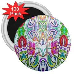 Wallpaper Created From Coloring Book 3  Magnets (100 Pack) by Amaryn4rt