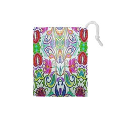 Wallpaper Created From Coloring Book Drawstring Pouches (small)  by Amaryn4rt