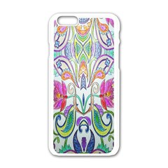 Wallpaper Created From Coloring Book Apple Iphone 6/6s White Enamel Case