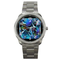 Water Is The Future Sport Metal Watch by Amaryn4rt
