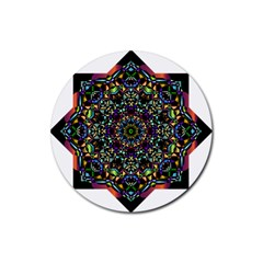 Mandala Abstract Geometric Art Rubber Round Coaster (4 Pack)