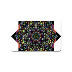Mandala Abstract Geometric Art Magnet (name Card) by Amaryn4rt