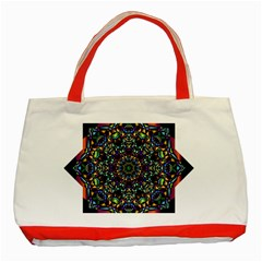 Mandala Abstract Geometric Art Classic Tote Bag (red) by Amaryn4rt