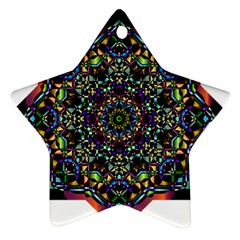 Mandala Abstract Geometric Art Star Ornament (two Sides) by Amaryn4rt