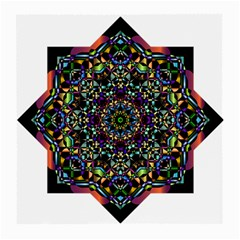 Mandala Abstract Geometric Art Medium Glasses Cloth