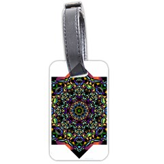 Mandala Abstract Geometric Art Luggage Tags (two Sides) by Amaryn4rt