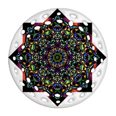 Mandala Abstract Geometric Art Round Filigree Ornament (two Sides)