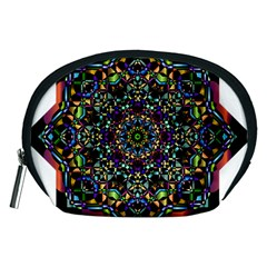 Mandala Abstract Geometric Art Accessory Pouches (medium)  by Amaryn4rt