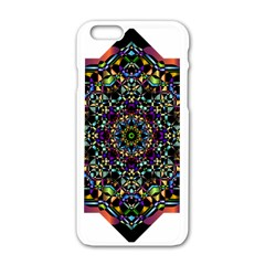 Mandala Abstract Geometric Art Apple Iphone 6/6s White Enamel Case by Amaryn4rt