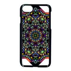 Mandala Abstract Geometric Art Apple Iphone 7 Seamless Case (black)
