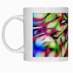 Magic Fractal Flower Multicolored White Mugs by EDDArt