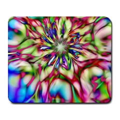 Magic Fractal Flower Multicolored Large Mousepads by EDDArt