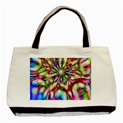 Magic Fractal Flower Multicolored Basic Tote Bag by EDDArt