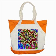 Magic Fractal Flower Multicolored Accent Tote Bag by EDDArt