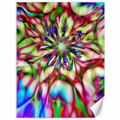 Magic Fractal Flower Multicolored Canvas 36  X 48   by EDDArt
