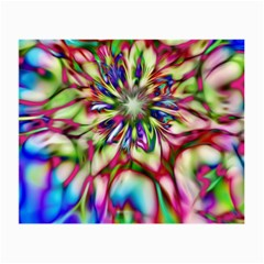 Magic Fractal Flower Multicolored Small Glasses Cloth (2 Side) by EDDArt