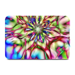 Magic Fractal Flower Multicolored Plate Mats by EDDArt