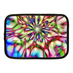 Magic Fractal Flower Multicolored Netbook Case (medium)  by EDDArt