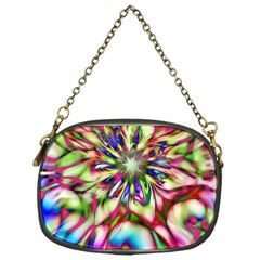 Magic Fractal Flower Multicolored Chain Purses (one Side)  by EDDArt