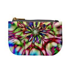Magic Fractal Flower Multicolored Mini Coin Purses by EDDArt