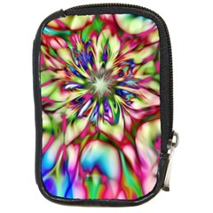Magic Fractal Flower Multicolored Compact Camera Cases by EDDArt